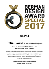 German Design Award for Qi-Pad