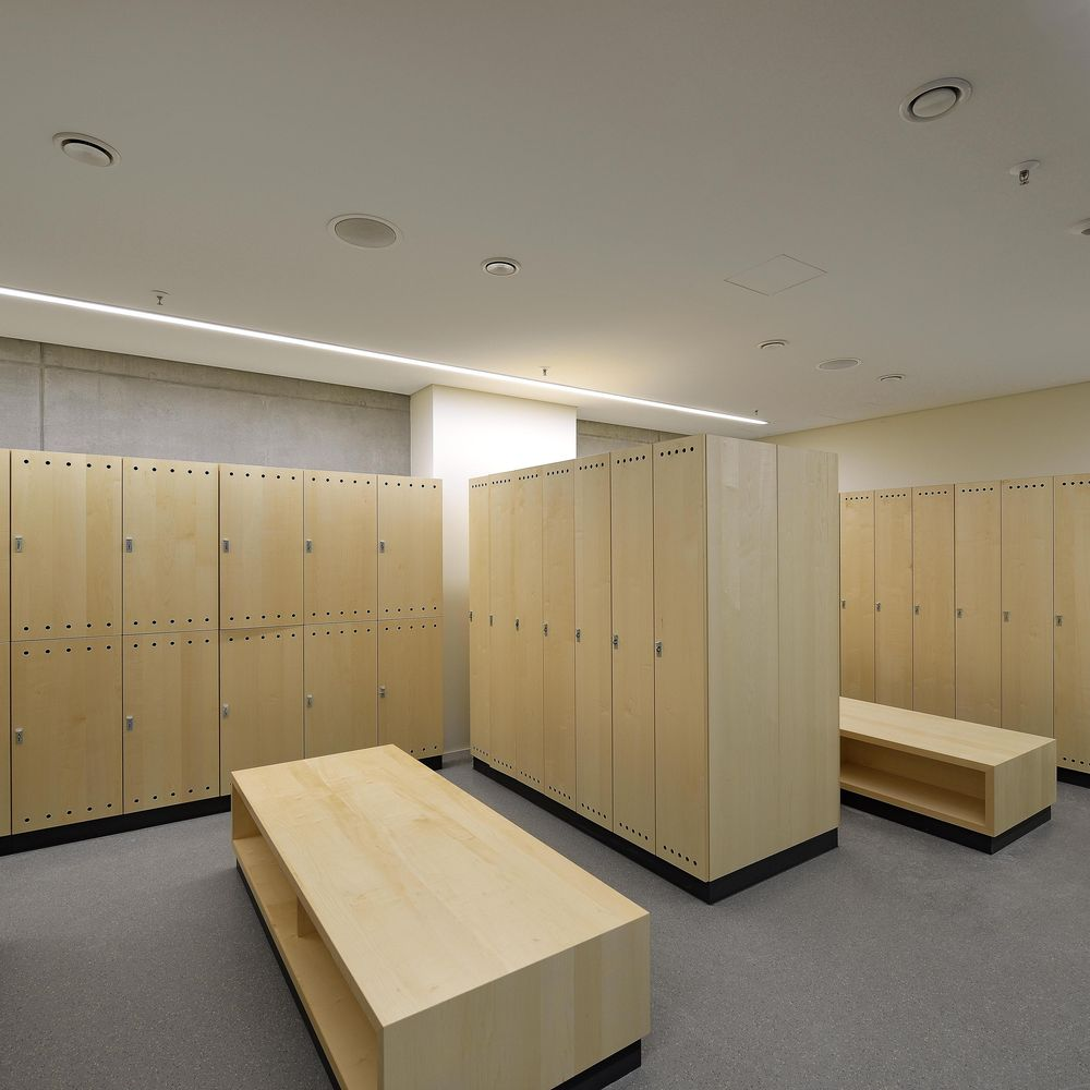 Wardrobe closets and changing rooms with real wood veneer