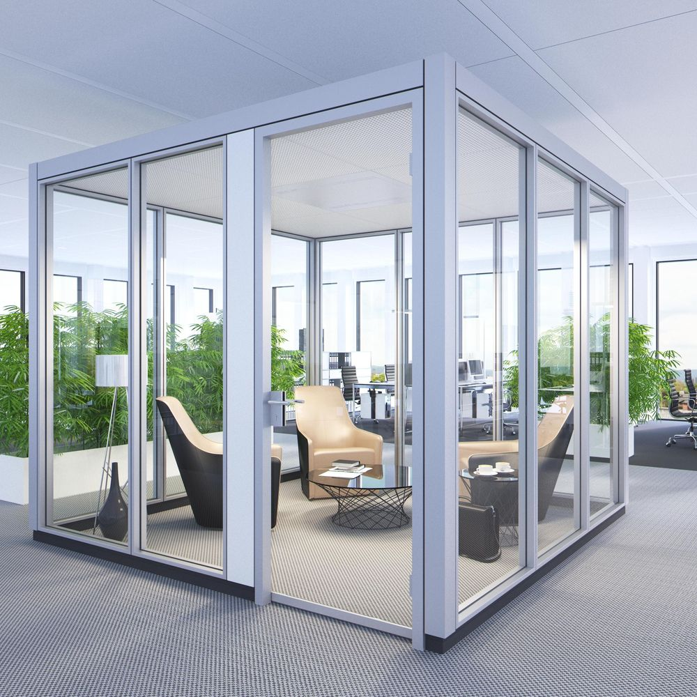 Confidential meetings in an open-space office