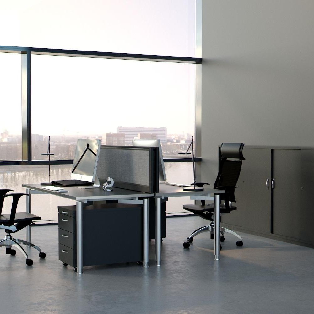 Workplace design with acoustic panels