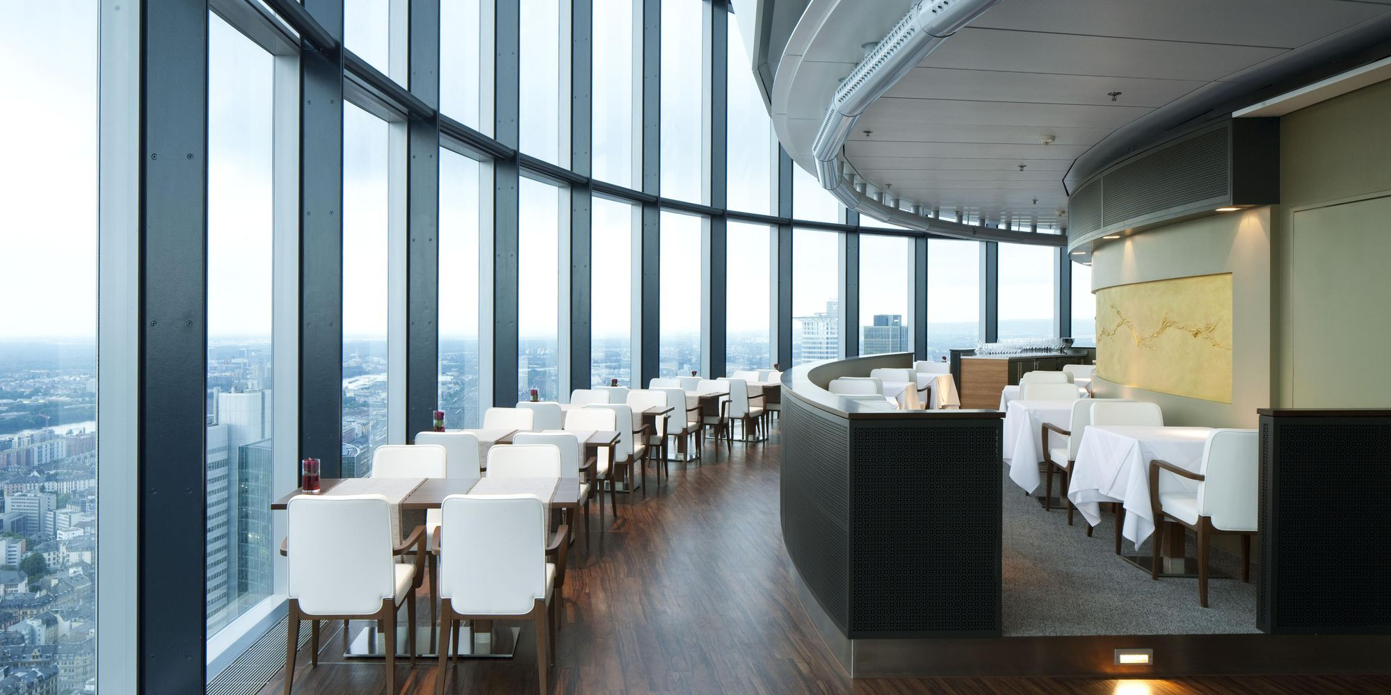 Main Tower — interior fit-out for hospitality with a panoramic view