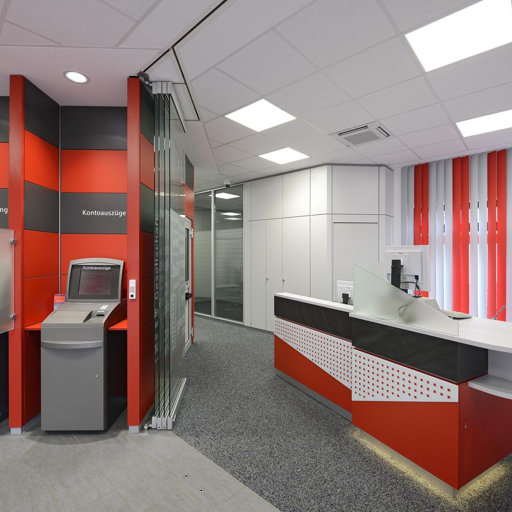 Interior fit-out for banks and building societies