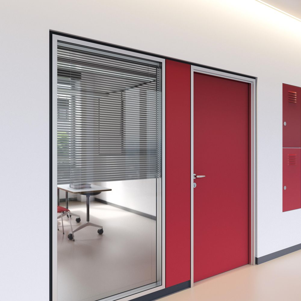 Optional privacy screening with internal blinds